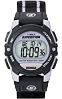 Timex Unisex T49658 Expedition Classic Digital Chrono Alarm Timer Black Fast Wrap Velcro Strap Watch by Timex