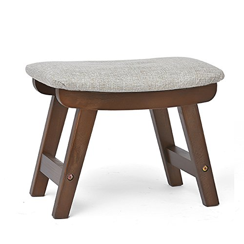 Xin-stool Solid wood stool/living room creative bench/leisure stool/stool/home adult shoes bench/sofa stool/Footstool/Fabric pouf/Removable footstool/Bedroom Stool (38.52925.5cm) (Color : B) by Xin-stool
