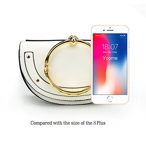 Yoome Round Purse Small Women upgraded White For Crossbody Circular Ring Bags lune Version Punk Girls Handbags Handle R1x8R0frwq