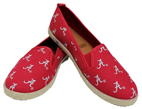 Ncaa Alabama Crimson Tide Pattern (Alabama Crimson Tide NCAA Womens Canvas Espadrille Shoes - Small)