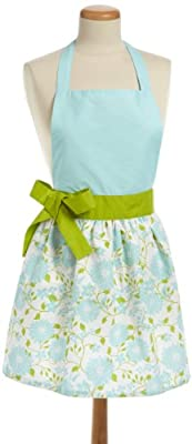 DII 100% Cotton, Trendy & Fashion Daisy Skirt Kitchen Chef Apron, Adjustable Neck & Waist Ties, Machine Washable, Embroidery Area avaliable, Perfect for Cooking, Baking, Crafting & More from Design Imports