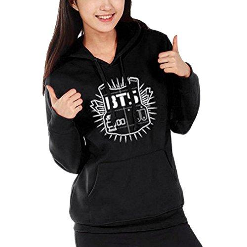 Women Casual Hoodie Warm Coat Black Jacket Pullover Long Sleeve semen Winter Outerwear Men BTS Sweatshirt dwq0dUpn