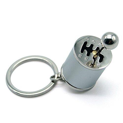 Waterwood Creative Auto Part Model Gear Box Shifter Keychain Key chain Ring-Silver