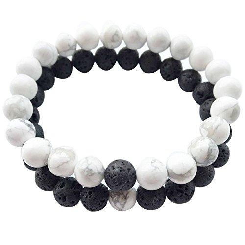 Calm Lava Stone Diffuser Bracelet-stress relief, meditation, diffuse, yoga, aromatherapy, sleep aid,grounding, healing, genuine stones, natural (2-1)