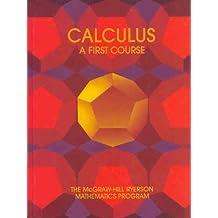 Calculus: A First Course by Davison, Ferroni, Carter, Hamilton, Laxton, Lenz Stewart (1989-12-23)