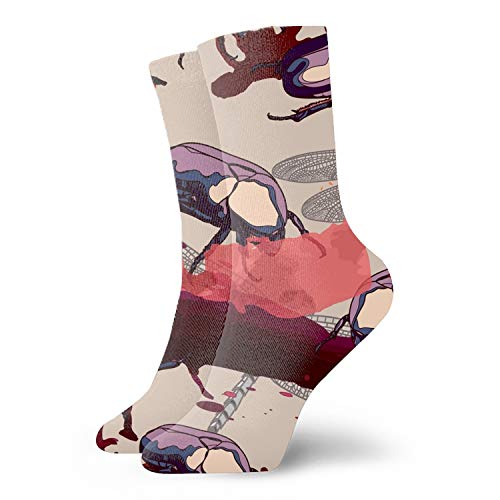 Digital printing Design Pattern With Dragonfly And Beetles Socks Party Sock Stockings For men & Women