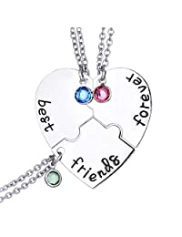 Starchenie BFF Necklaces for 2/3/4 Girls Best Friend Forever Friendship Necklaces
