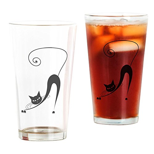 CafePress - Black Cat - Pint Glass, 16 oz. Drinking - Glasses With And Black Cat White