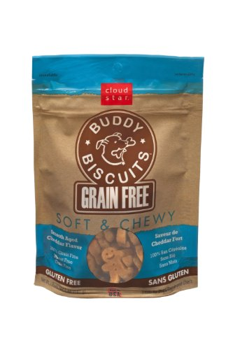 Cloud Star Grain Free Soft and Chewy Buddy Biscuits Dog Treats, Smooth Aged Cheddar, 5-Ounce, My Pet Supplies