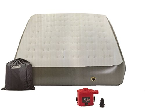 - Coleman Comfort Strong 12-in Height Airbed with Portable Pump - Queen