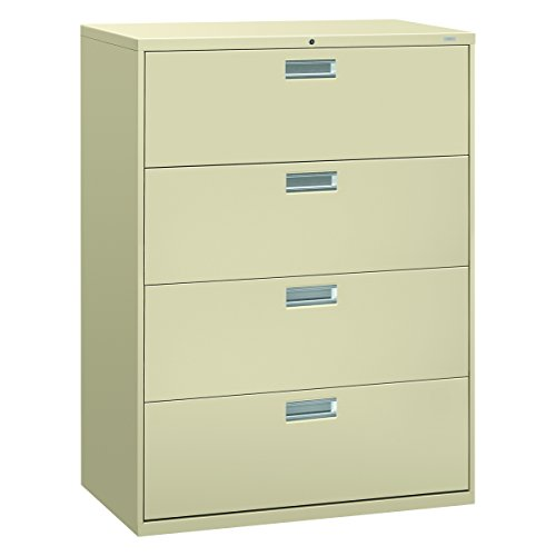 HON 694LL 600 Series 42-Inch by 19-1/4-Inch 4-Drawer Lateral File, Putty