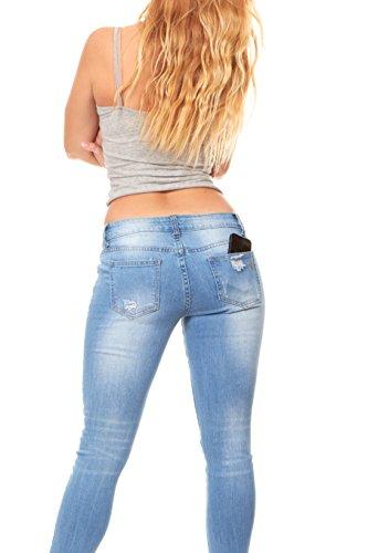 18b9c3be6afbaf Ripped and Distressed Frayed Hem Skinny Stretch Jeans Plus Size Light Blue