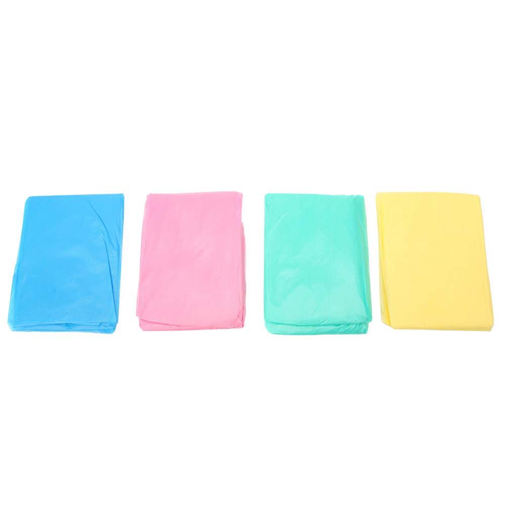 Xiton 1pcs desechable Impermeable Poncho Impermeable para Adultos con Capucha y Mangas Espesar Claro Ponchos para Hombres Mujeres Adolescentes Color al Azar
