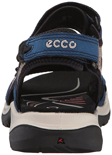 ECCO Womens Yucatan Sandal Poseidon/Warm Grey/Black 3MCGS