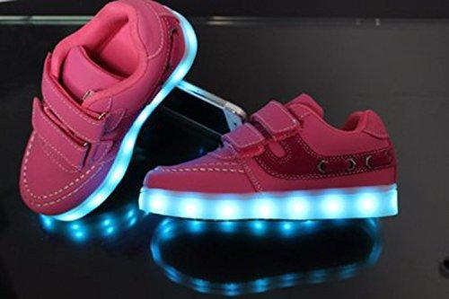 Mädchen leuchten Jungen kleines Farben führte Sportschu 7 JUNGLEST Sneakers Trainer Present Pink Turnschuhe Handtuch LED Kinder a8SASnv