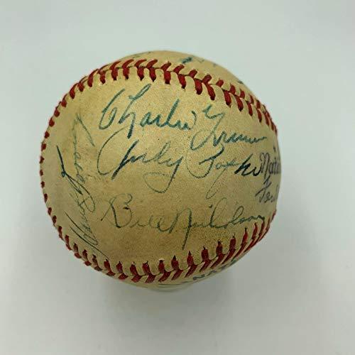 - 1945 Chicago Cubs National League Champs Team Signed Baseball PSA DNA COA