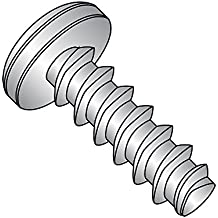 "410 Stainless Steel Thread Rolling Screw for Plastic, Passivated Finish, Pan Head, Phillips Drive, #4-20 Thread Size, 1/2"" Length (Pack of 50)"