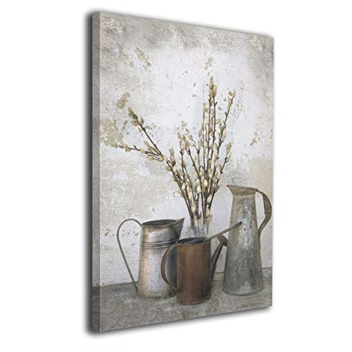 OANAklsd Three Watering Cans Framed and Stretched Giclee Canvas Wall Art Prints for Wall Decor 16