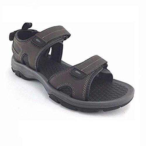 Khombu Hombres Barracuda Sport Sandals Black Brown