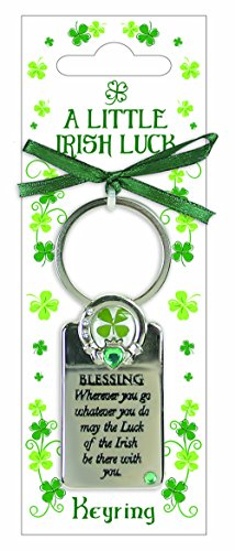 (Four Leaf Clover Irish Blessing Keyring)
