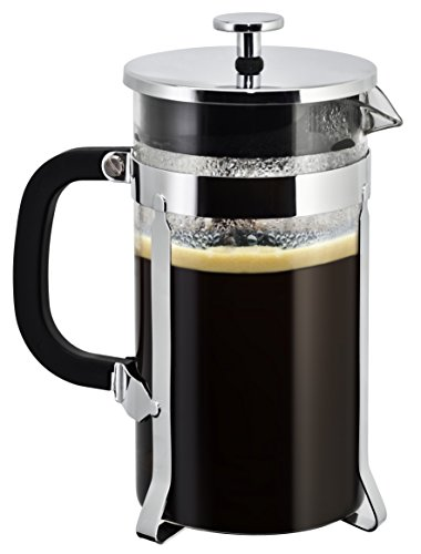 - Coffee Maker French Press:by SterlingPro [Double Filter - the Purest home-brewed coffee/tea] Gift 2 Free Bonus Screens [Premium Stainless Steel] [Thick Heat-resistant Glass Pot (34oz, chrome)
