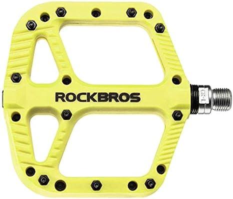 ROCKBROS Pedales de Bicicleta de Nylon Antideslizante Ligeros con Rodamiento Sellado para MTB Bici de Carretera Bici Plegable