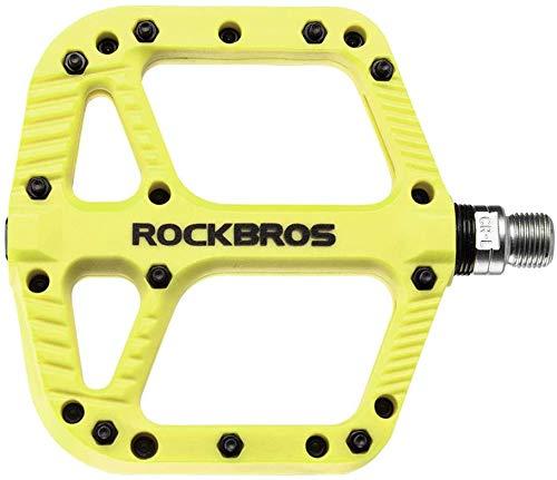 ROCKBROS Fietspedalen Nylon Composiet Platte Pedalen 9/16 Mountainbike Pedalen 3 Lagers Antislip Waterdicht Anti-stof