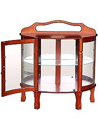 yontree 6 glass elegant door curio cabinets antique cabinet storage cabinet hallway desk table wood