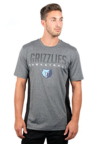 fan products of NBA Men's Memphis Grizzlies T-Shirt Performance Short Sleeve Tee Shirt, XX-Large, Gray