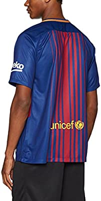 outlet store ea09f 3925a Nike 2017/18 FC Barcelona Stadium Jersey with Sponsor [DEEP Royal Blue]