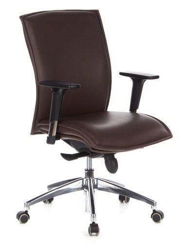 hjh OFFICE 600140 silla ejecutiva MURANO 10 cuero marron oscuro con brazos sillon de oficina con ruedas silla giratoria