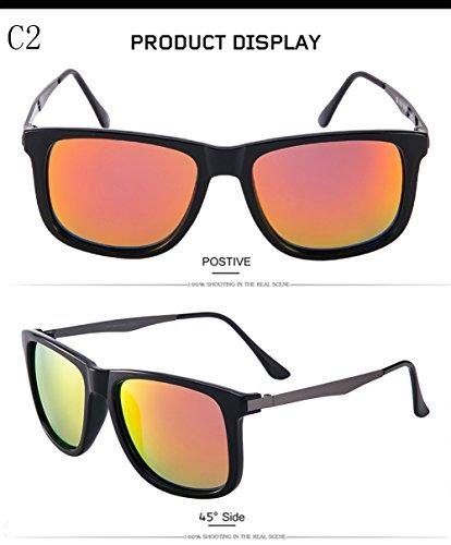 Protección Aviator Sol UV Mujer para Gafas C3 400 Polarizadas De Hombre C2 para H855tq