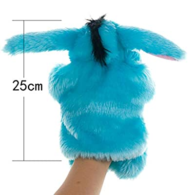 NUOBESTY Donkey Puppet Plush Puppet Toy Role Play Toy Animal Puppet Toy for Kids Storytime Plush Finger Puppets for Children Shows Playtime Schools: Office Products