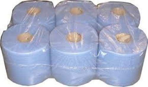 6 Pack 2 Ply Centre Feed Paper Wipe Rolls *****TRACKED DELIVERY***** MAGNUM PACKAGING