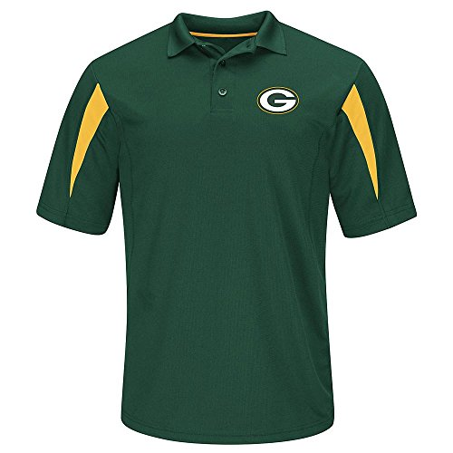 Edition Golf Shirt - NFL Team Apparel Green Bay Packers Adult Large STREAK Performance Playoff Edition Polo Shirt - Green & Gold