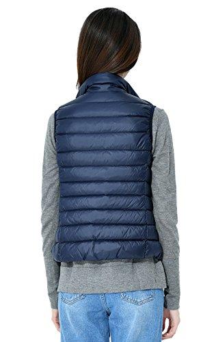 Santimon Mujeres Marino Packable Del Colores Abajo Coat Chaqueta Ligero Las Chaleco Collar De Calentar Down Soporte Disponibles Azul 10 rE4wUpqr
