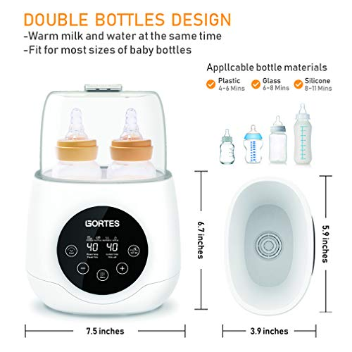Baby Bottle Deluxe Bottle Thermostat Intelligent Warm Breast Milk Formula, Temperature One-Touch Fast Heating