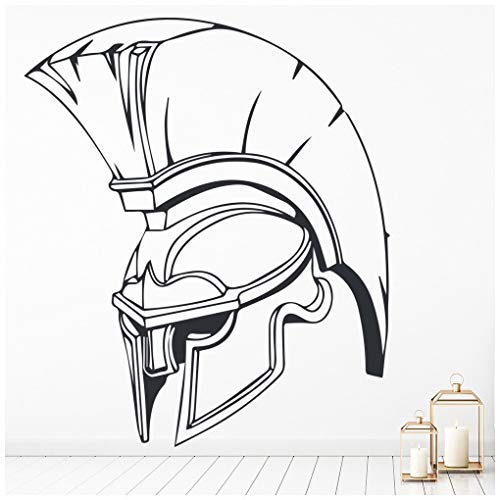 banytree Spartan Army Helmet Wall Sticker Roman Soldier Wall Decal School Home Decor Large
