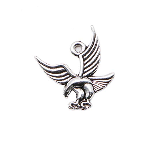 JETEHO 60 Pcs Birds Eagle Charms Pendent Bulk for Jewelry Making Necklace Bracelet DIY (Eagle Bird Charm)