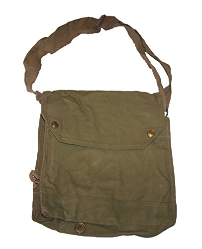 Genuine Original 1942 Mk VII Gas Mask Raider Bag khaki in color