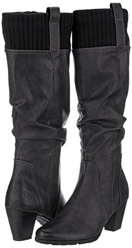 black Tozzi Altas Ant comb Botas 25511 Negro Mujer Marco YqgdASg
