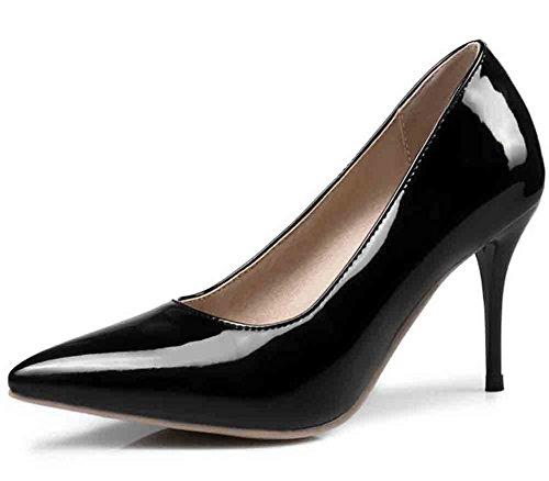 Easemax Womens Elegant Pointy Toe Low Cut High Stiletto Heel Pumps Shoes Black 23v2f4AQx