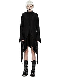 b69a1cc239b5 Punk Rave Femmes Vampire Robe Chemise Longue Noire Punk Gothique  Chauve-Souris Aile sorcière
