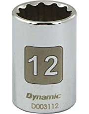 """Dynamic Tools D003104 1/4"""" Drive 12 Point Metric Socket with 4mm Standard Length"""
