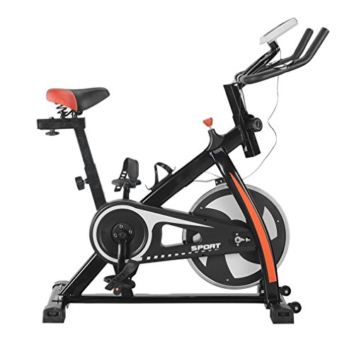 Akonza Indoor Cycle Trainer Fitness Bicycle Stationary Exercise Cycling Health Workout w/ Wheel, Black Akonza
