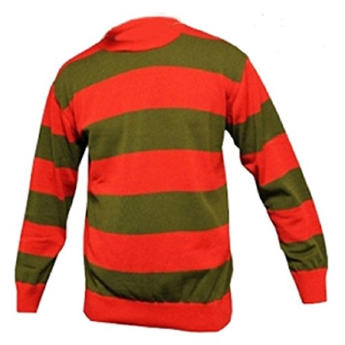 GirlzWalk Kids Unisex Red Green Stripe Knitted Jumper 7-12 Years -
