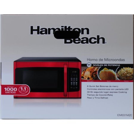 Amazon.com: Hamilton Beach 0.9 cu.ft. Microwave Oven, Red: Kitchen & Dining