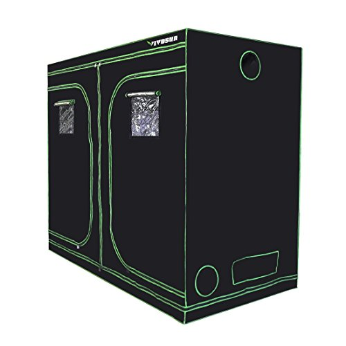 "41jgKfb92BL - VIVOSUN 96""x48""x80"" Mylar Hydroponic Grow Tent with Observation Window and Floor Tray for Indoor Plant Growing 4'x8'"
