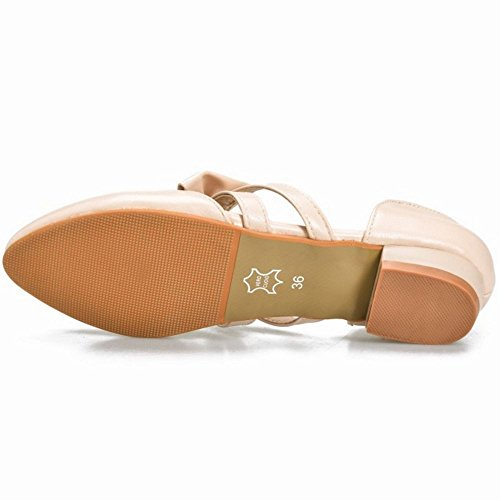 Coolcept Scarpe Da Donna Fashion Pumps Scarpe Da Prua Sweet Shoes Mary Janes Beige