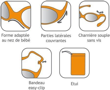 Luc y Léa - Gafas Solares categoría 4 Pou niños de 1 - 3 ...